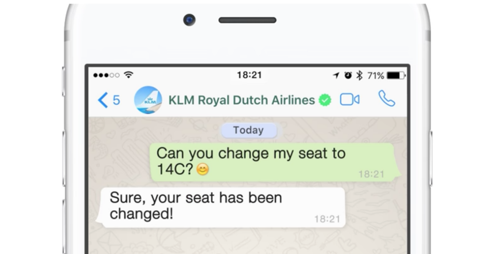 KLM WhatsApp Business