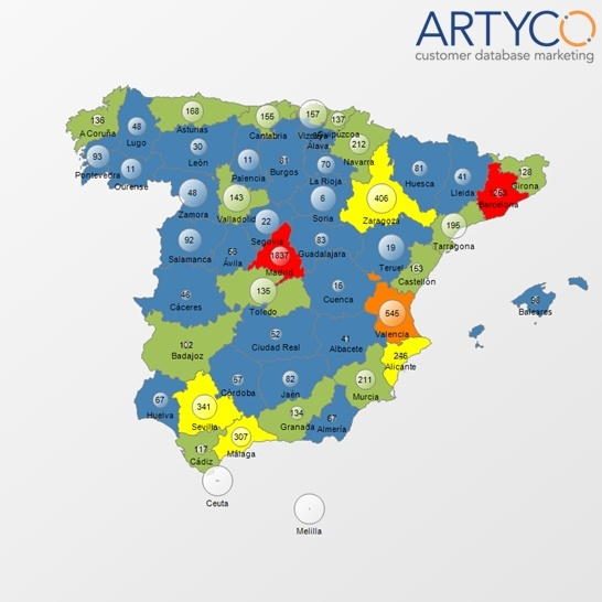 Artyco mejora la Geolocalización como valor añadido en sus informes Business Intelligence