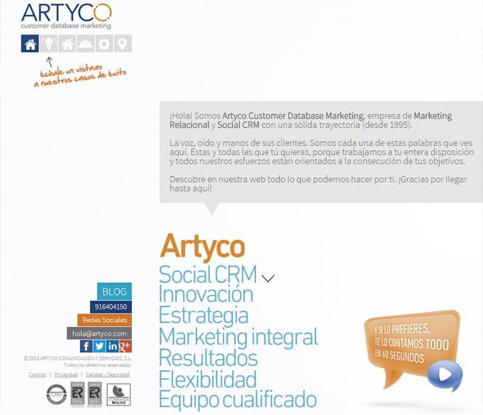 Artyco renueva ilusiones y web