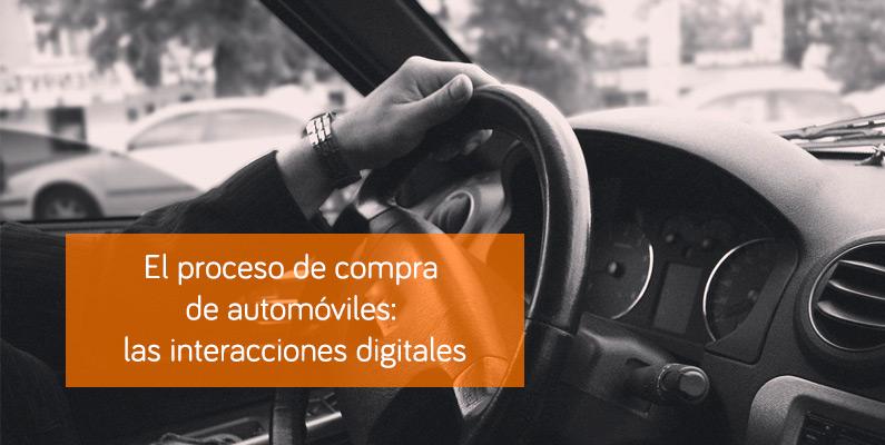 El proceso de compra de automóviles: las interacciones digitales