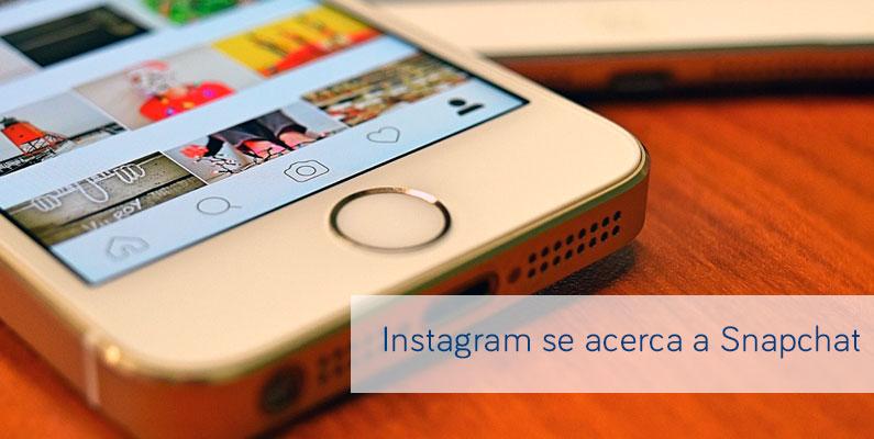 Instagram se acerca a Snapchat