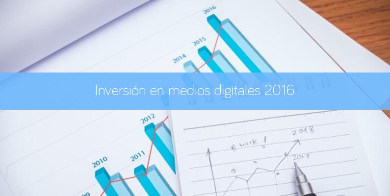 Inversión en medios digitales 2016