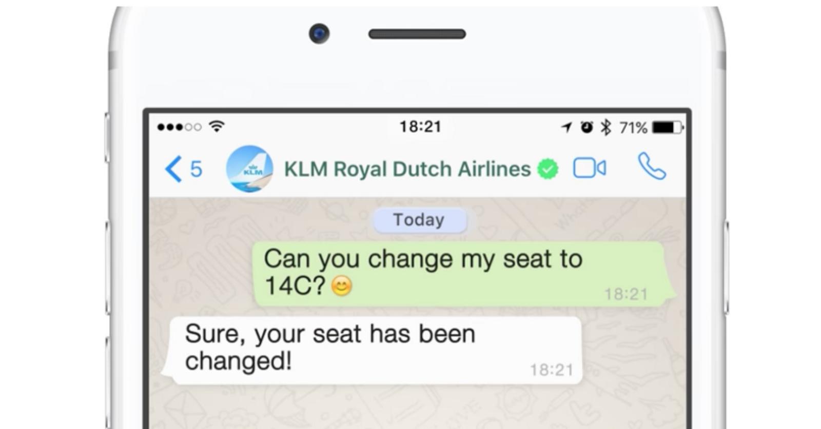 KLM WhatsApp Business