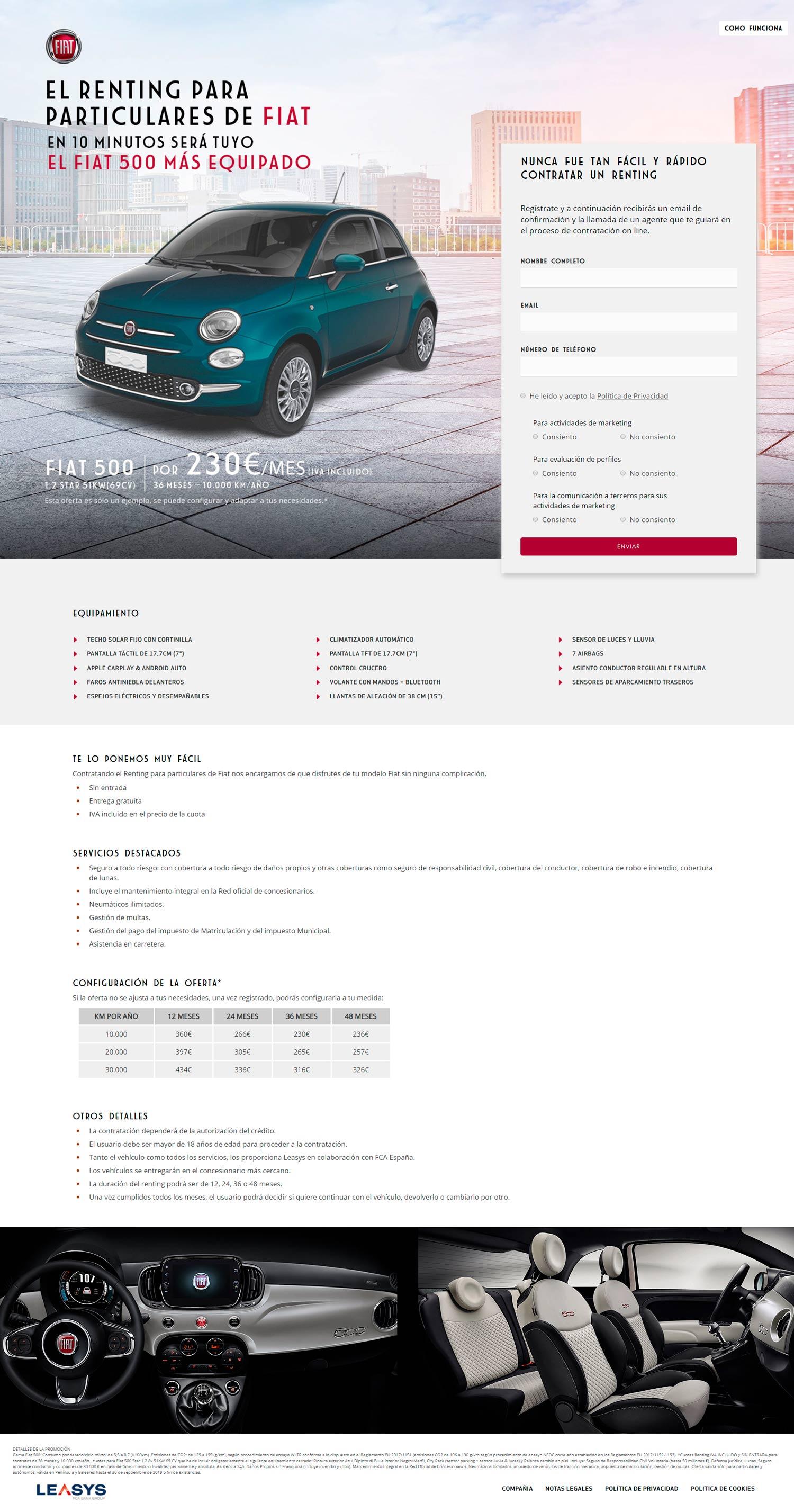 Reting Online FIAT